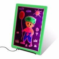 LED Luminous Children Drawing Board Ultra Thin Drawing Painter Graffiti Scrawl Painting Board For Indoor Display