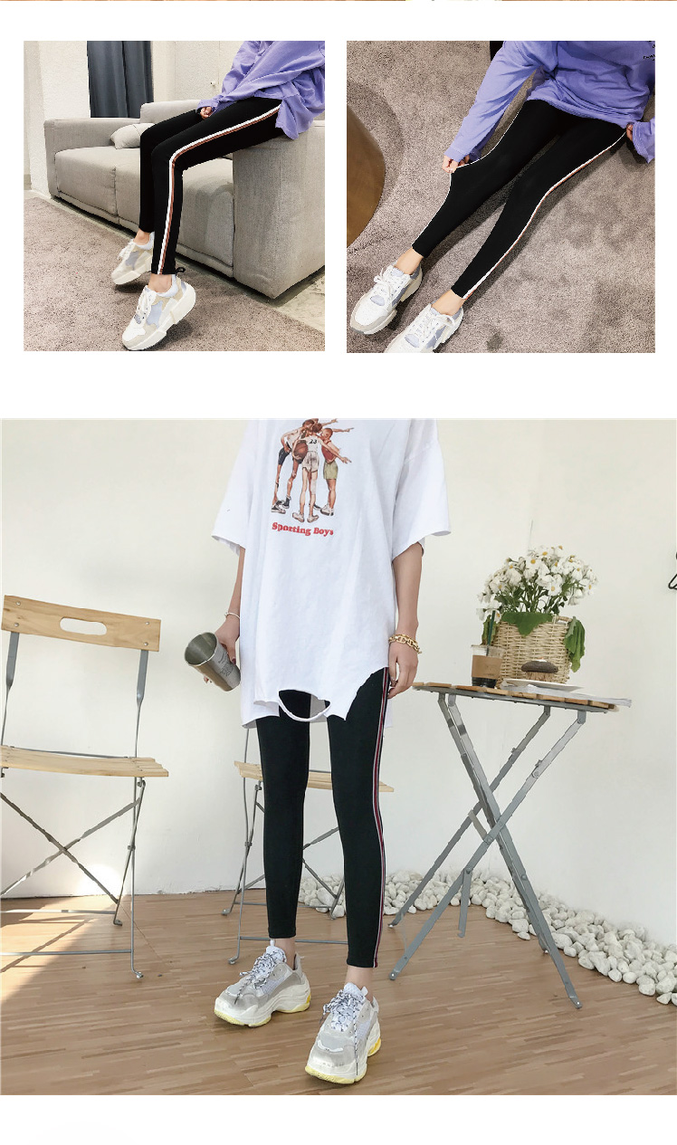 2019 New Fashion Women's Spring And Autumn High Elasticity And Good Quality Slim Fitness Capris Streetwear Leggings Cotton Pants 78