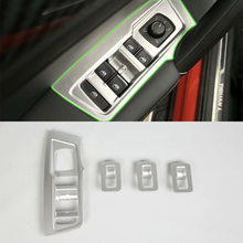 Car Accessories Interior ABS Door Armrest Window Switch Lift Button Cover Trim For Volkswagen Tiguan L 2016 Car Styling