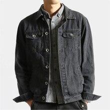 2017 New Spring Brand Vintage Design Men's Denim Jacket Male Solid Color Slim Full Sleeve Jackets Men Hole Jeans Waistcoat A3054