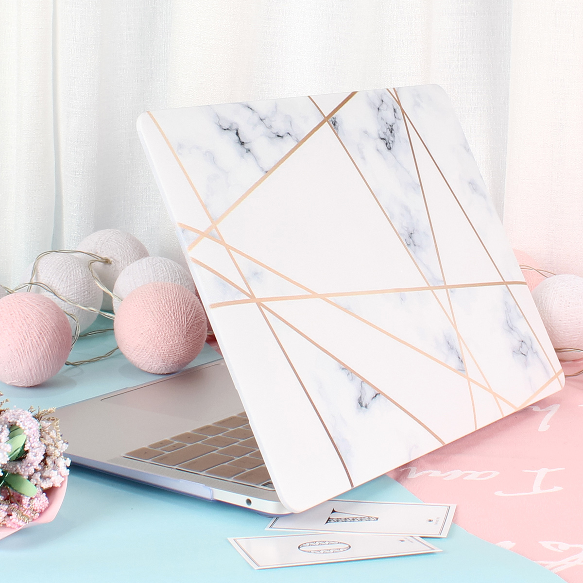 Marble Flower Pattern Case for MacBook 61