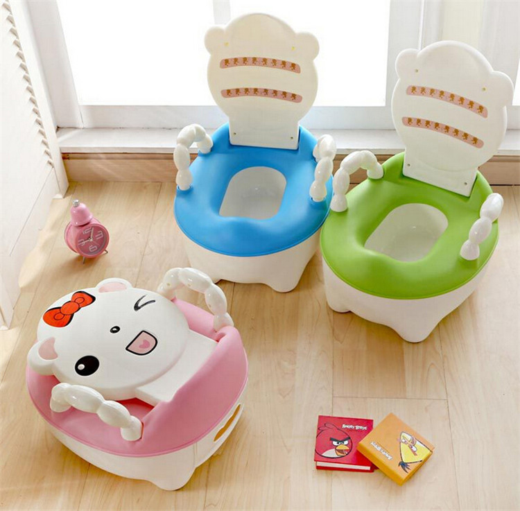 Child Toilet Seat Cover Potty Ladder Baby Toilet Seat Portable Children's Pot Plastic Baby Pot Infant Toilet pot Potty Chair bomb style toilet tissue pot green