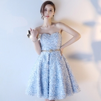 Ball Gown Sweetheart Floral Lace Short Prom Dress Homecoming Junior High Graduation Party Dresses