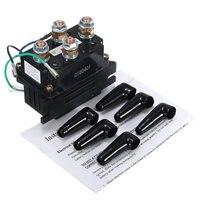 12V 400A Electric Winch Solenoid Relay Rocker Switch W Caps For ATV UTV Truck Black Metal