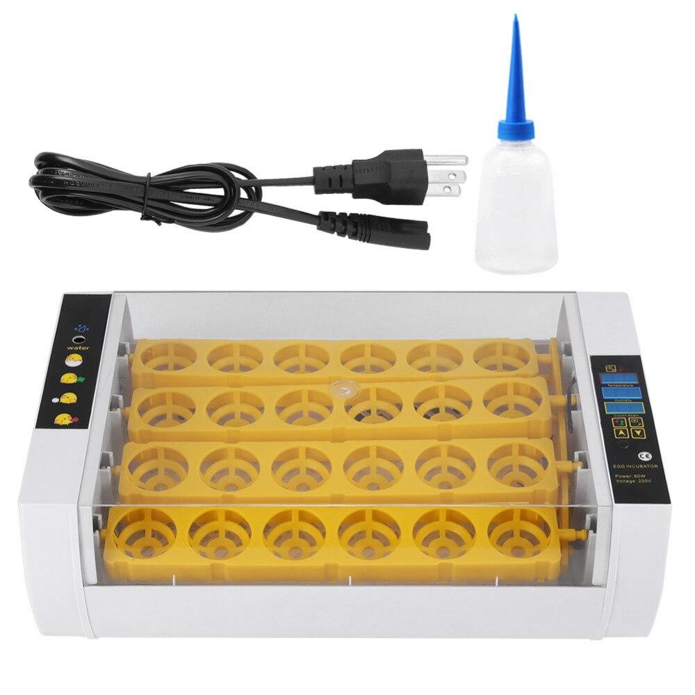 24 卵インキュベーター 60 ワットのデジタル温度制御自動鶏ひよこアヒルハッチャー鶏アヒルガチョウ EU/米国/ AU  グループ上の ホーム&ガーデン からの 給餌 & 給水用品 の中 1