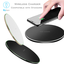 10W Qi Wireless Fast Charger for iPhone X Xs MAX XR 8 plus Fast Charging for Samsung S8 S9 Plus Note 9 8 USB Phone Charger Pad phone camera lens 9 in 1 phone lens kit for iphone x xs max 8 7 plus samsung s10 s10e s9 s8