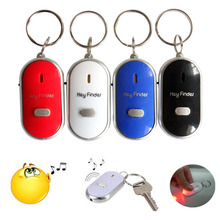 Новейший мини-свисток для поиска ключей с защитой от потери, беспроводной умный мигающий звуковой сигнал с дистанционным управлением, брелок для ключей с локатором, светодиодный фонарь