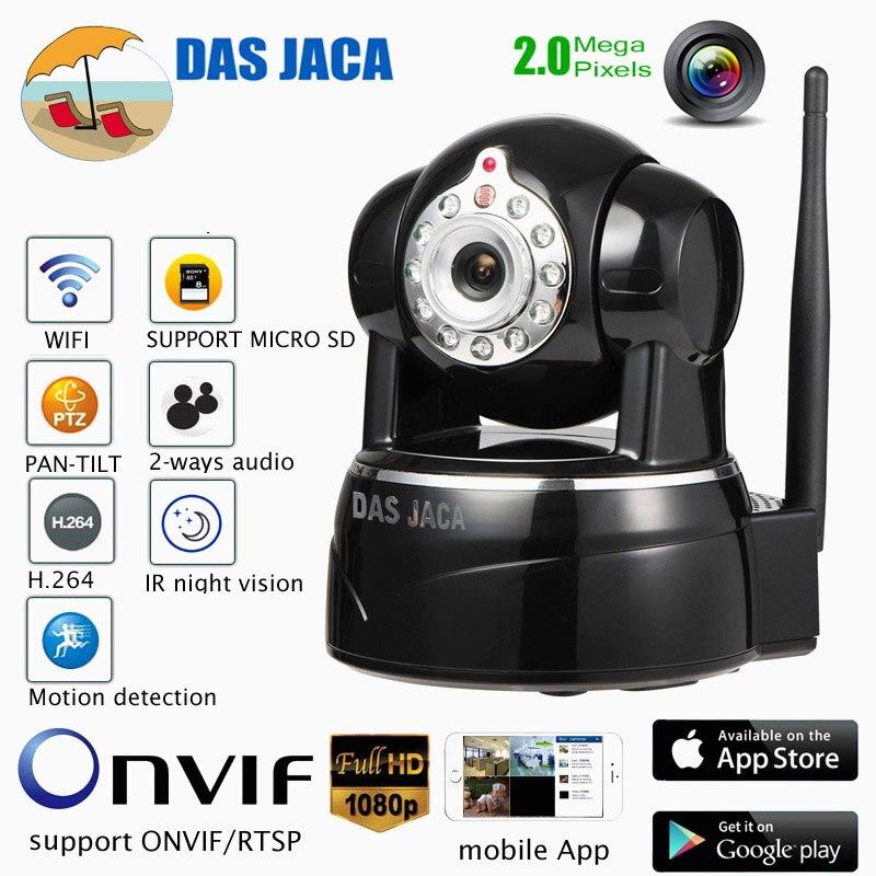 Das Jaca 2mp onvif cctv caméra de sécurité à domicile wifi ptz caméra dôme ip 1080 p bébé moniteur vision nocturne infrarouge caméra sans fil hd