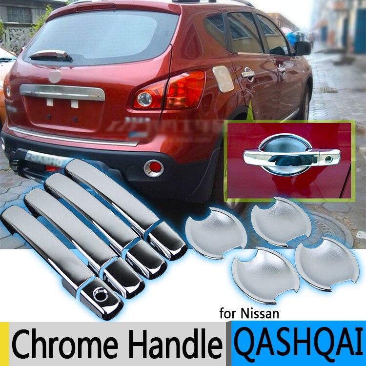 Für Nissan Qashqai 2006-2013 J10 Luxuriöse Chrome Türgriffblenden Zubehör Aufkleber Auto Styling Dualis 2007 2008 2009 2010