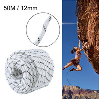 12mm 50M Abrasion Resistant Falling Protective Climbing Rope High Safety Polyester Rope Cord Paracord For Camping Hammock Boat