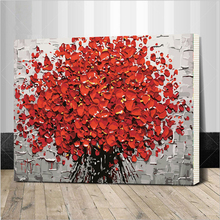 Framed New arrival unique gift Digital Oil Painting On Canvas painting by numbers decorative picture 40*50-Flower 40X50CM