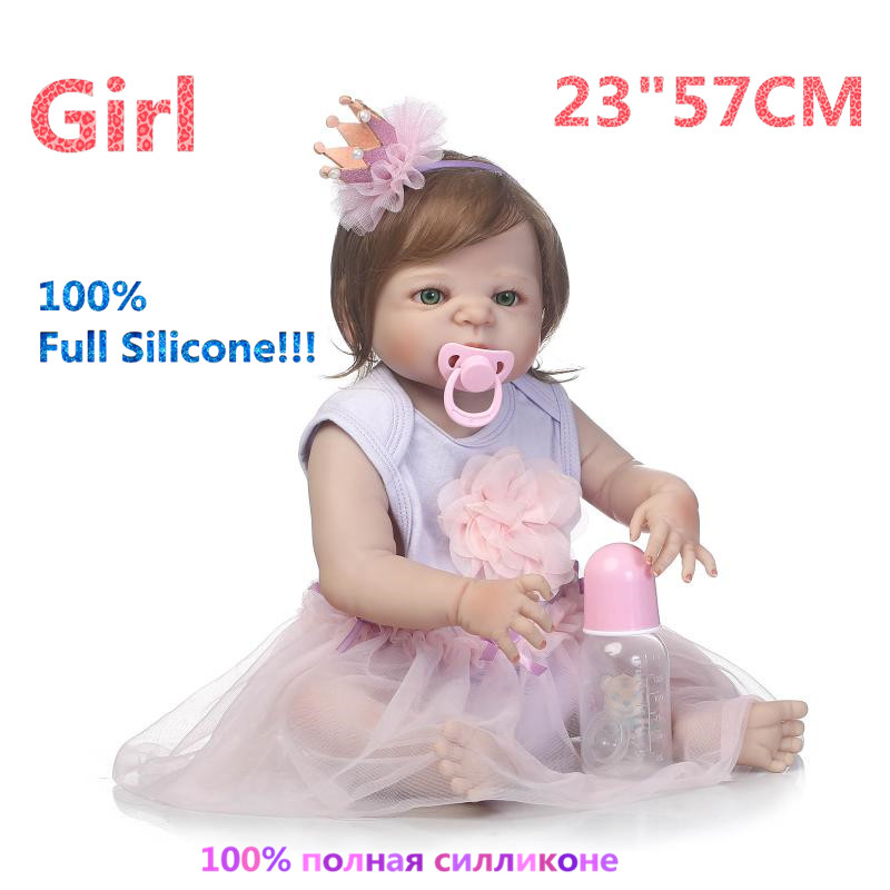 23 Newborn Realistic 100% Full Silicone Doll Reborn Babies Brinquedo Realistic Simulation Soft lovely Reborn Dolls RB16-14H10 christmas gifts in europe and america early education full body silicone doll reborn babies brinquedo lifelike rb16 11h10