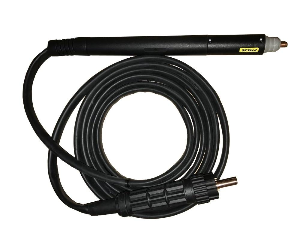 CNC de découpe plasma torche, Non HF arc pilote PTM60 60 Ampères 6 mètres longueur ou 10 mètres longueur