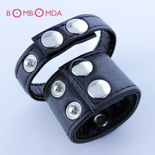 Soft Leather Cock Penis Ring Adjustable Cock Rings Strap,Snap-On Cock And Ball Harness,Sex Toys For Men