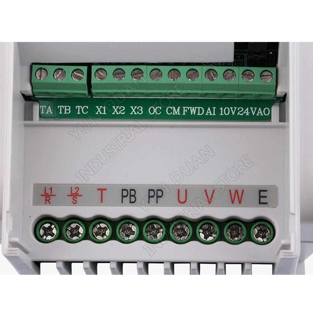 Convertisseur de fréquence universel SUNFAR 0.4KW 400 W 220 V 1PH 3PH 1000Hz VVV/F SVC VFD pour contrôleur de ventilateur d'air de broche de routeur - 3