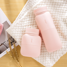 Cute Hand Warmers Portable Irrigation Hot Water Bag Abdomen Heat Pack with Knit Cover Silica Gel Bottle Winter Heating Supplies silicone hot water bottle cute cat design hand warmers cooler reusable heating ice cooling muscle injury ice compress gift
