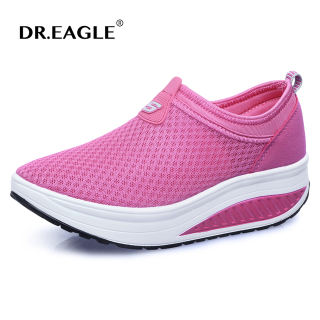 e7c24f57f288 Women running shoes Breathable Lightweight Lose Weight Platform Walking  Shoes Woman Healthy Fitness Swing rocking shoes sneakers