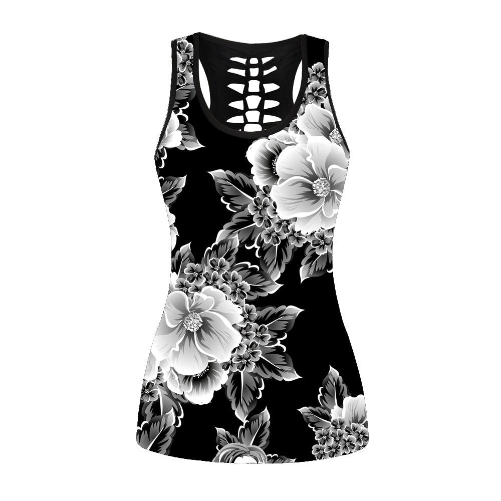 Neue Fitness 3d Graue Blumen Frauen Vintag Sport Tops 3 Muster Digitaldruck Sleeveless Lauf Westen S Bis 4xl Plus Größe Aromatischer Geschmack