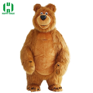 Image 1 - New Arrival 2M 2.6M 3M Inflatable Bear Costume For Advertising Customize Bear Inflatable Mascot Halloween Costume For Adult