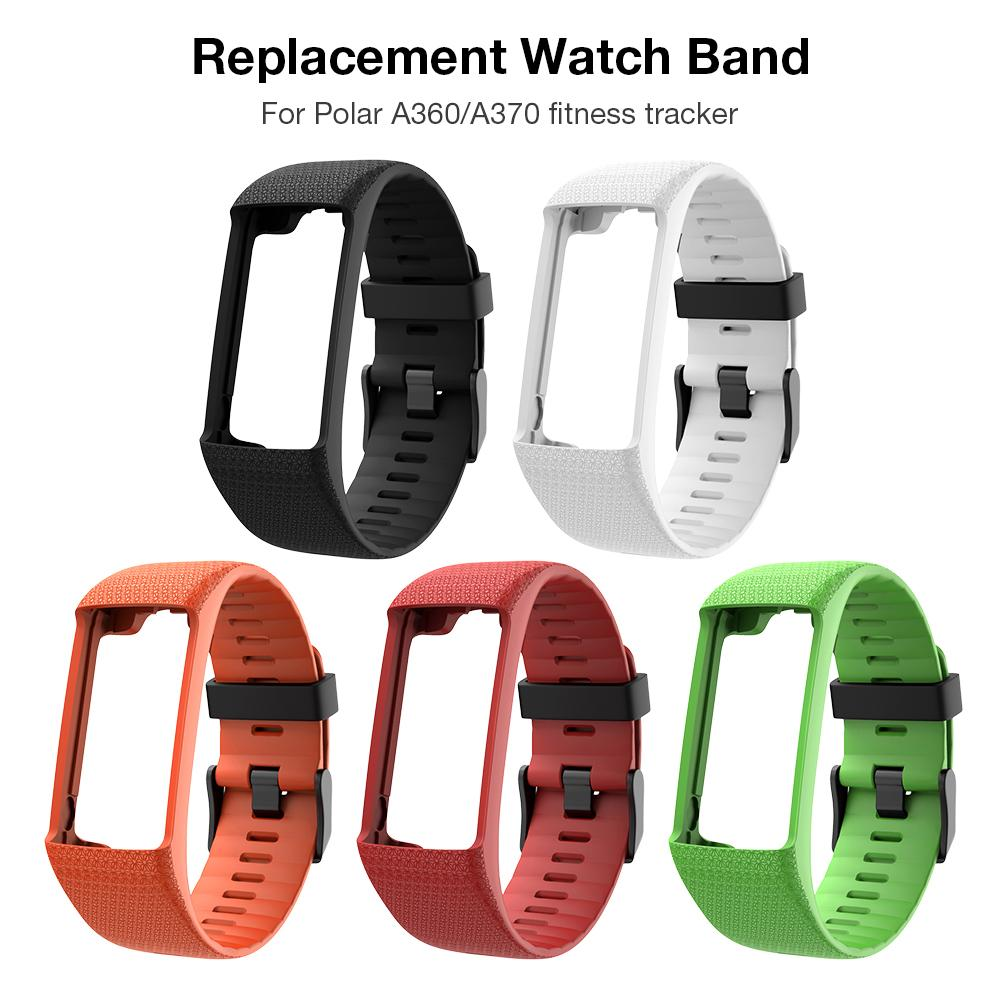New Silicone Replacement Watch Band Wrist Strap Black Buckle Wristband Watch Strap For Polar A360 A370 GPS Smart Bracelet