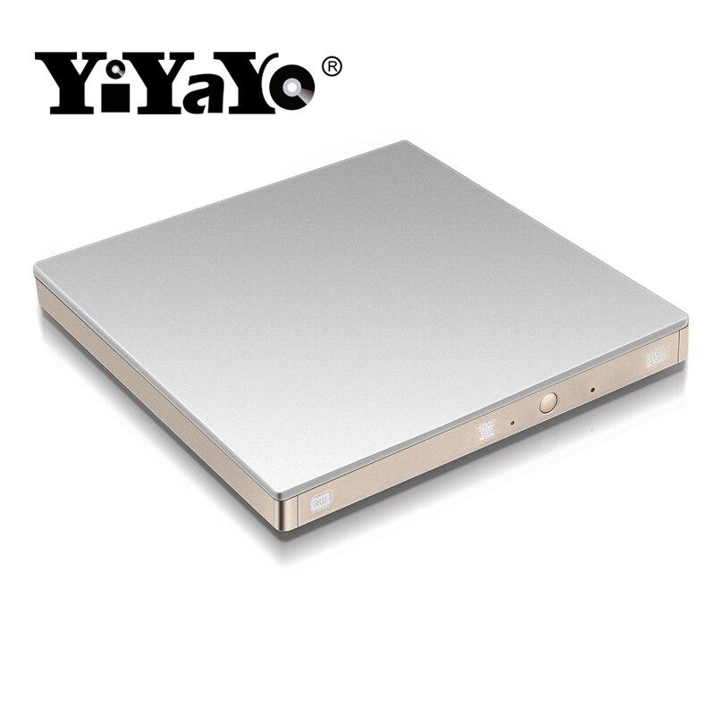 YiYaYo USB 3.0 ārējais diskdzinis DVD diskdzinis CD-ROM atskaņotājs CD-RW DVD-RW deglis klēpjdatoram Macbook PC pārnēsājams (sudrabs)