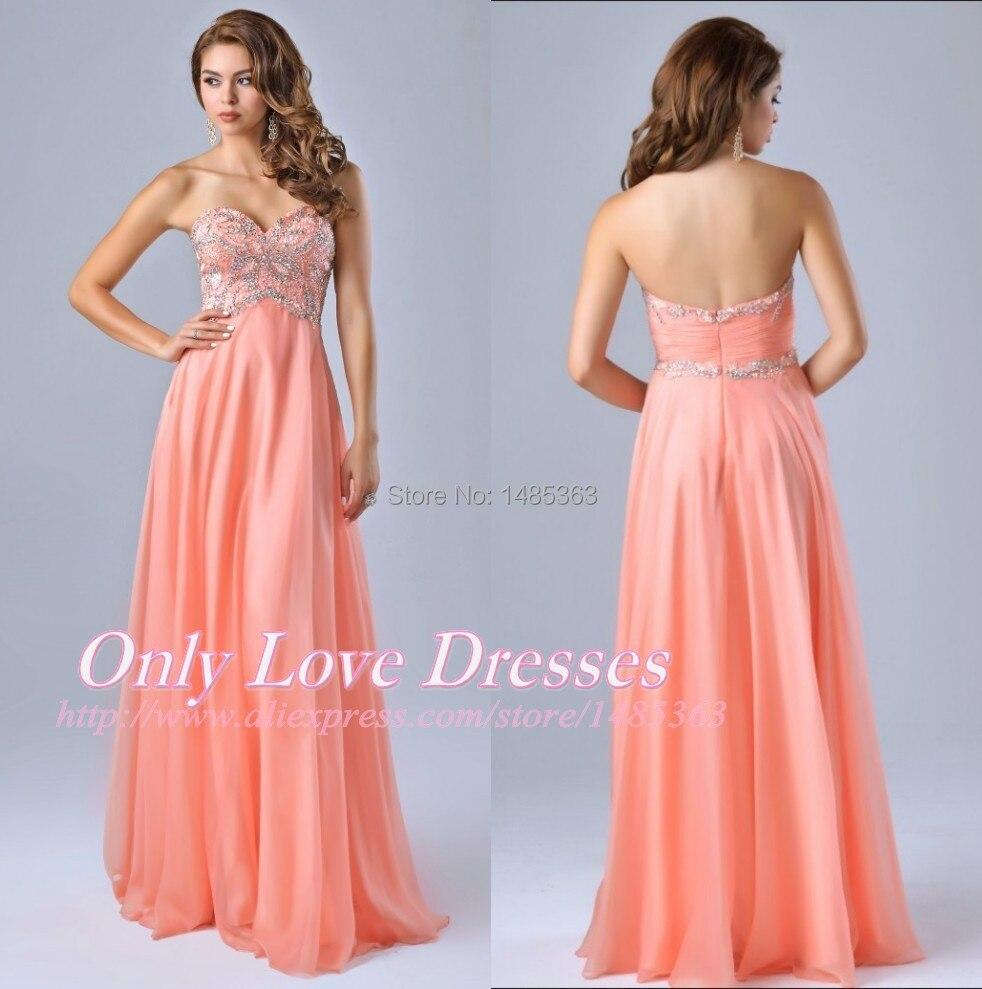 Vestidos de fiesta de noche color coral – Vestidos de noche ...
