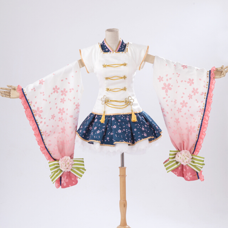 Kimono manches longues Love Live! Hoshizora Rin elfe fleur cosplay costume Halloween Costumes pour femmes anime vêtements fantaisie robe