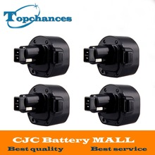 4PCS High Quality 9 6V 3 0Ah NI MH Replacement Power Tool Battery for Dewalt DE9062