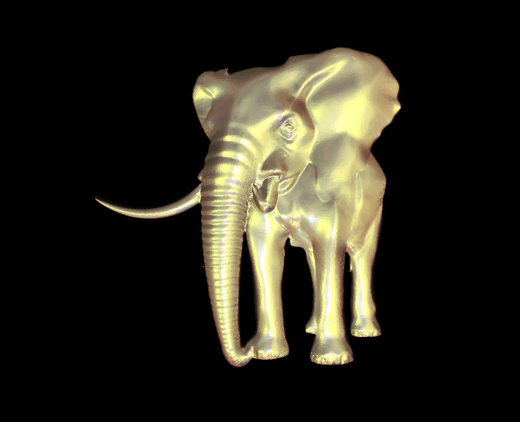 Elephant d model relief stl for cnc router carving