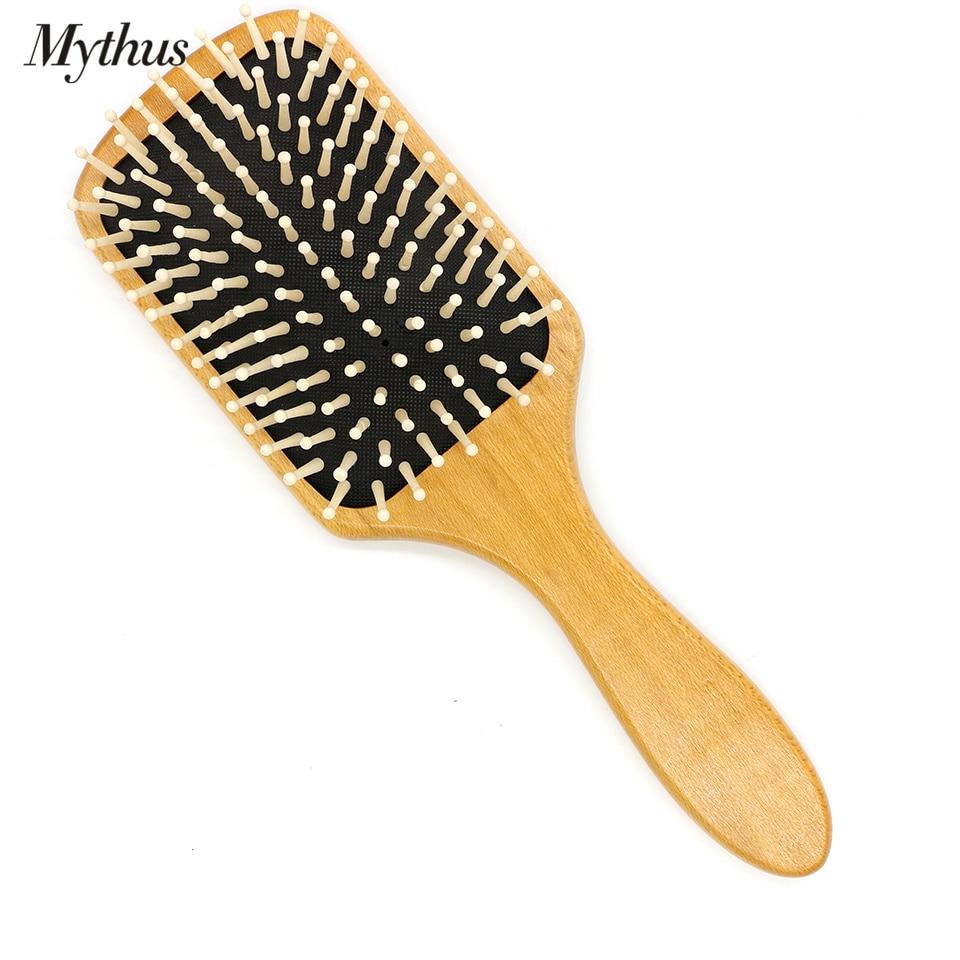 Mythus Paleta de madera Cepillo de pelo Cepillo de aire Cushion Brush - Cuidado del cabello y estilo - foto 3