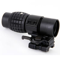 New Hot Tactical 3X Magnifier Pineapple Rifle Scope Hunting Riflescope With Flip To Side Picatinny Weaver