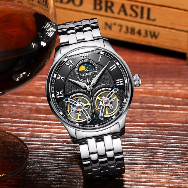 Swiss Brand Automatic Mechanical Wrist Watch 5