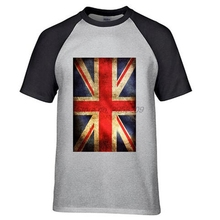 FLAG UNION JACK Men's T Shirt England London United Kingdom Flagge UK Distressed Fashion Top Tee Summer Cotton T-shirts(China)