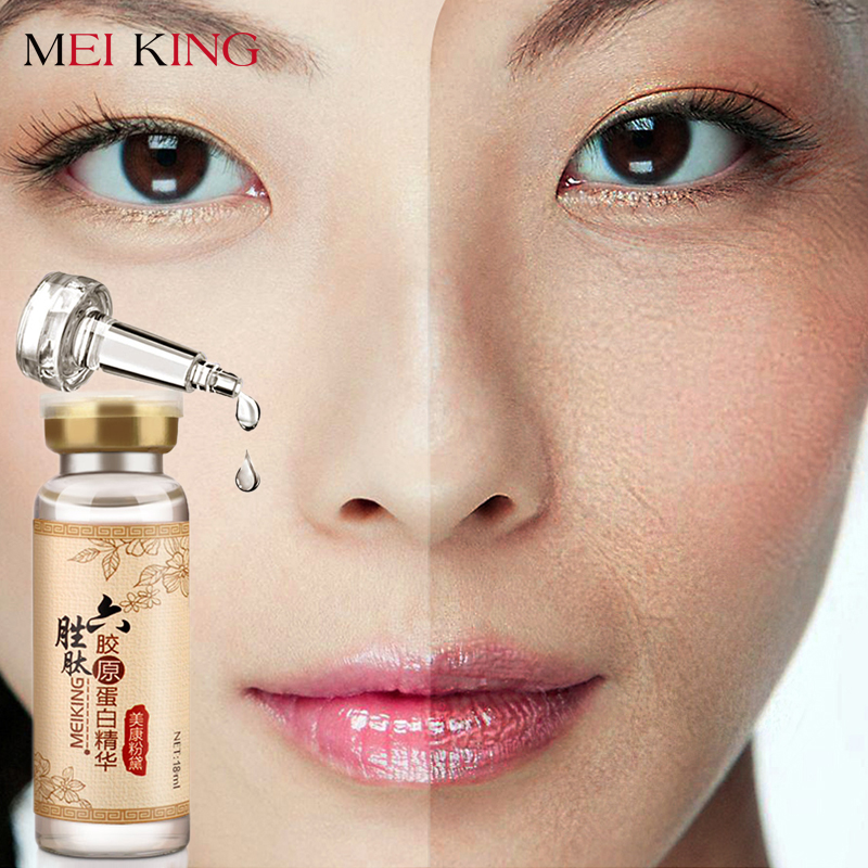 Argireline+collagen peptides anti wrinkle Serum for the face skin care Colageno anti-aging Essence cream  Moisturizing Whitening whitening blemish serum black melanomas downplay the spot whitening skin care 7 1000ml cream for black spot free shipping