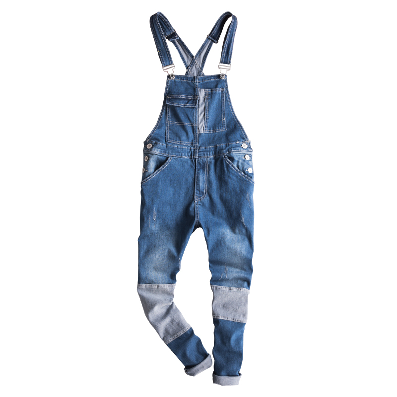 Mens Vintage Jeans Jumpsuit One Piece Work Bib Denim Overalls Male Hip Hop Suspender Pants Japan Fashion Men Cargo Strap Jeans Men's Clothing