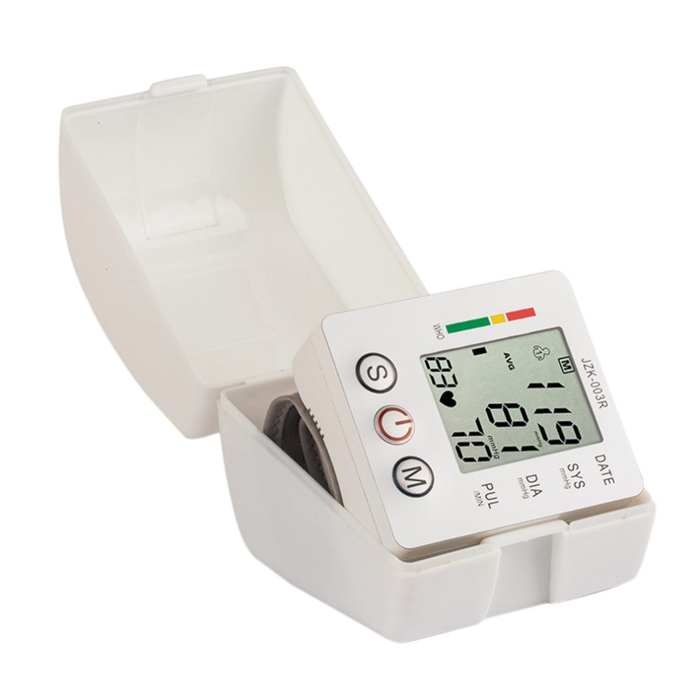 Household Health Care Wrist Blood Pressure Monitor Digital LCD Heart Beat Rate Pulse Meter Automatic Sphygmomanometers tonometer 13