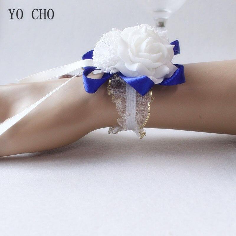 wrist corsage bracelet band bridesmaids flowers (66)