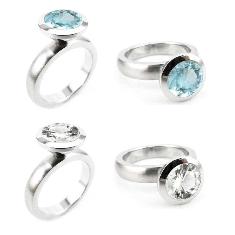R01-5 stainless steel DIY ring 12 birthstone