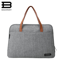 BAGSMART New Fashion Nylon Men 14 tums bärväska Känd märke axelväska Messengerväskor Causal Handbag Laptop Briefcase Male