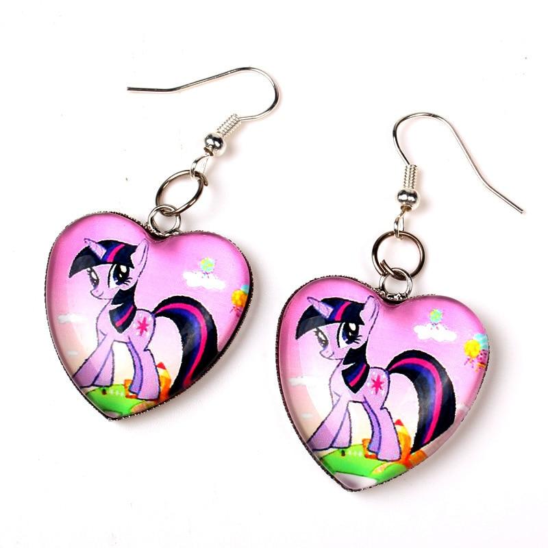 Fashion little pony girls earrings drop ear rings brincos earring ...