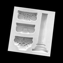 European Retro-Roman Column Patterns Silica gel Sugar molds DIY Chocolate Cake Decorative Baking Tool Y1QB