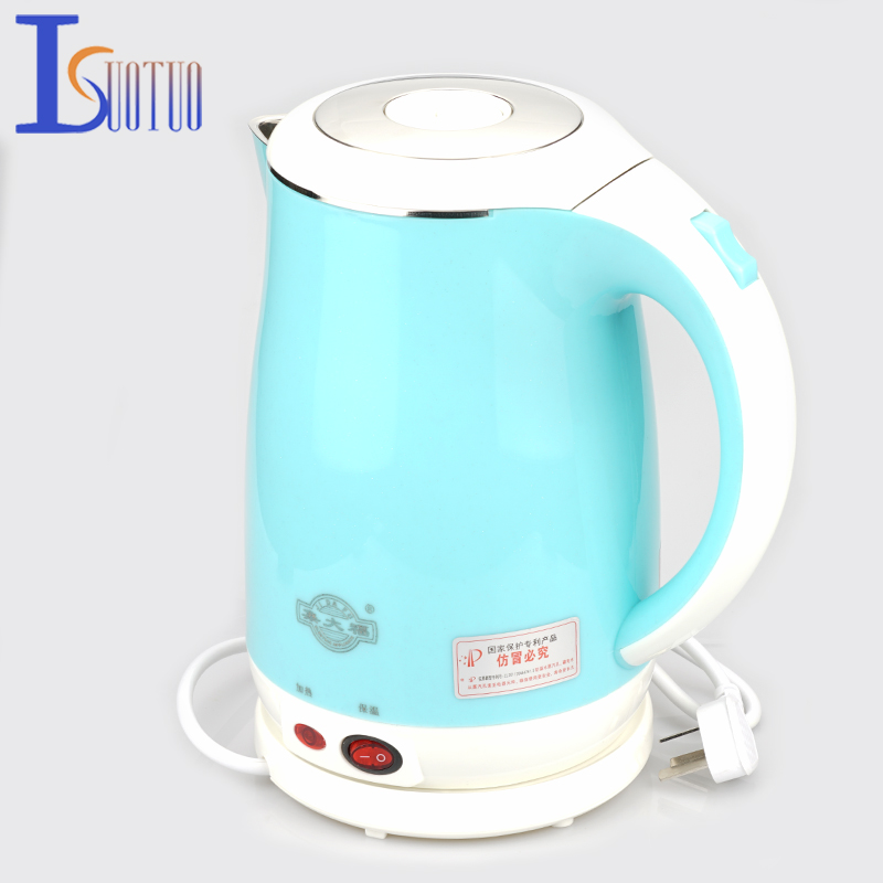 JDC-18V Blue Stainless Steel Electric Kettle With Auto-Off Function Quick Heat Water Heating Kettle  1.8L jdc 1000 1015 38