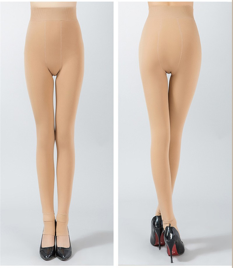 NORMOV Women's Winter Plus Cashmere Leggings Fashion Big Size Warm Super Elastic Faux Velvet Winter Thick Slim Leggings 18