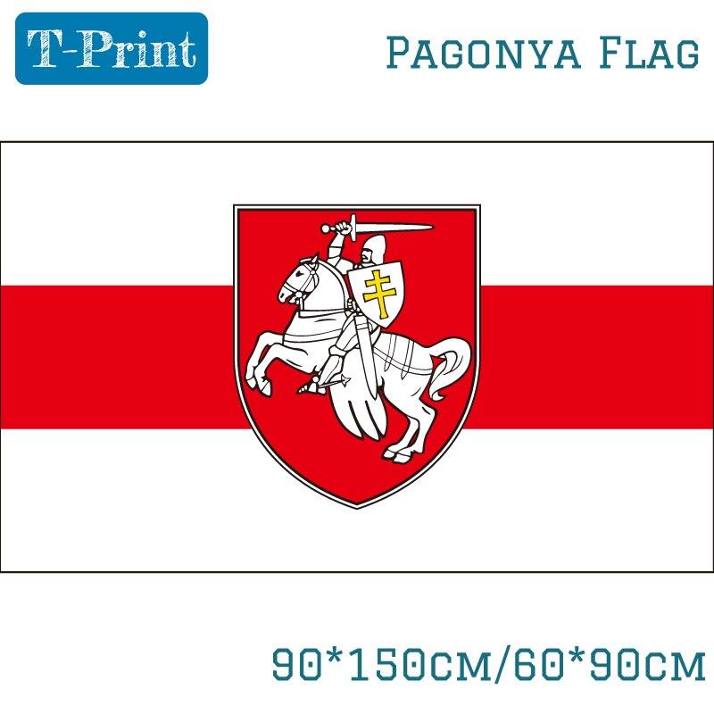 Free shipping Belarus White Knight Pagonya Flag 150x90cm 60x90cm Banner