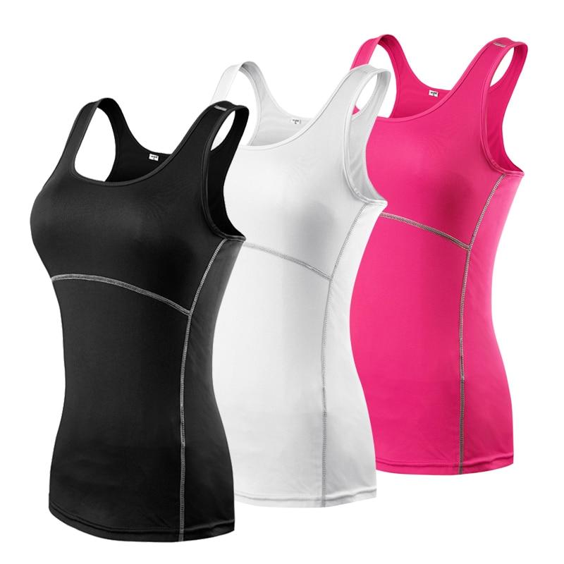YD 2017 Femmes de Sport De Compression De Yoga Sport Chemises Gilet Collants Couche De Base Gym Yoga Fonctionnement Sans Manches Débardeur 2001