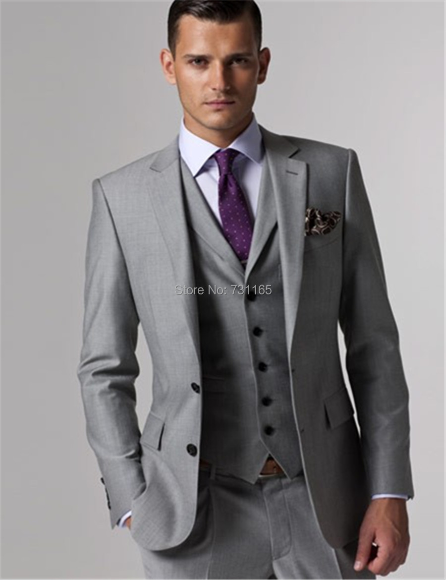 Aliexpress.com : Buy Custom Made Wedding Tuxedo Grey Suits Retro ...