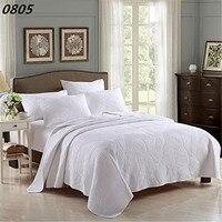 כותנה FADFAY White Vintage פרחוני בגודל קווין סטי שמיכת כיסוי קובע כיסויי מיטה מצעים קובע ציפית גיליון למיטה בצבע בז 'לבן