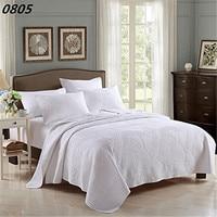 Fadfay綿白ヴィンテージ花柄掛け布団セットクイーンサイズのベッドカバーセットホワイトベージュベッドシート枕カバー寝具セッ