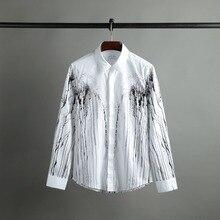 Full Dress Cotton Men Shirt 2017 Men Long Sleeve Men's Shirts And High-end Business No-iron S18