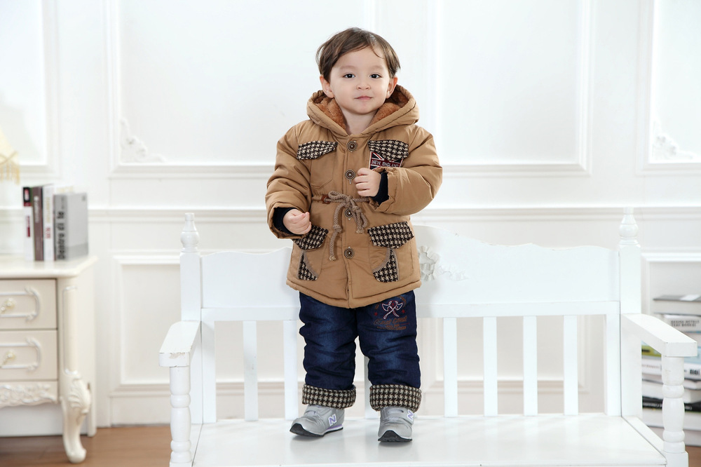 Anlencool-boys-cotton-suit-British-style-classic-lattice-models-baby-set-Padded-winter-clothes-suit-High-quality-baby-clothing-4